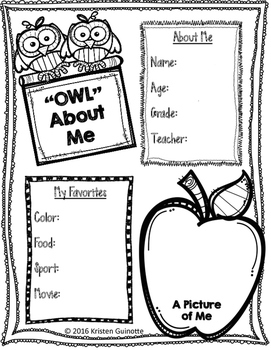 """""""Owl"""" About Me and more pages!"""
