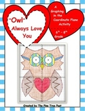 """""""Owl"""" Always Love You [Coordinate Plane Graphing Activity]"""