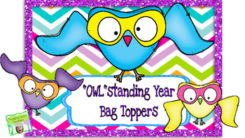 """Owl""standing School Year Bag Toppers"