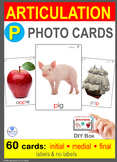 */P/ Articulation 60 Photo Flash Cards : Speech Therapy