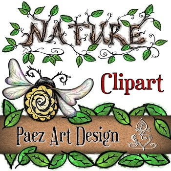 Nature Clipart {PAEZ ART DESIGN}