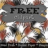 {PAEZ ART DESIGN} FREEBIES! Paleolithic Hand Print Digital Papers