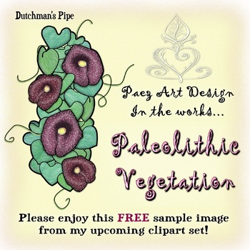 {PAEZ ART DESIGN} FREEBIES! Prehistoric Vegetation: Dutchman's Pipe Clipart