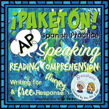 ¡PAKETÓN! AP Spanish Scaffolded Reading with  Speaking Fluency
