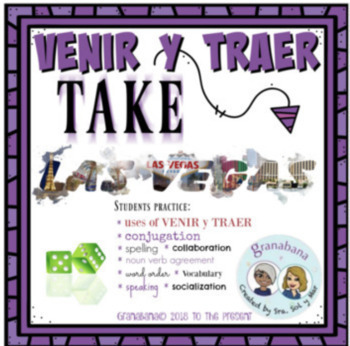 ¡PAKETÓN! VENIR Y TRAER: Novice Writing & Speaking Collaboration Bundle