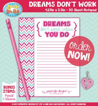 {PAPER GOOD} Inspirational Quote Notepad Design — 1 Notepad & 2 BONUS Items