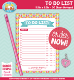 {PAPER GOOD} To Do List Notepad Design — 1 Notepad & 2 BON