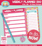{PAPER GOOD} Weekly Planner Duo Notepad Design — 1 Notepad