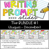 {PAPERLESS} Writing Prompts:The BUNDLE #1 Compatible w/Google Slides & PPT
