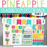 **PART 2** Bright Pineapple Themed Decor Pack! -Editable