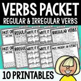 Best Selling Regular and Irregular Past Present Future Verb Tenses Worksheets