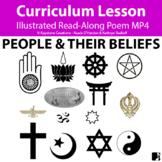 'PEOPLE & THEIR BELIEFS' (Grades 3-7) ~Curriculum Poem Vid