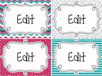 {PINK, TEAL, NAVY} Reading Focus Wall Set + Editable Labels & Flip Charts