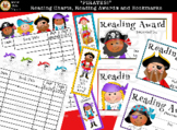 """PIRATES!"" Reading Charts, Reading Awards, & Bookmark Printables"