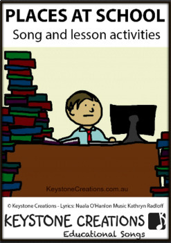 Children SING & LEARN about school areas & activities that occur there
