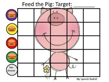 """Feed the Pig"" Speech and Language Game Companion"