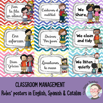 [POSTER] Classroom rules in English, Spanish & Catalan