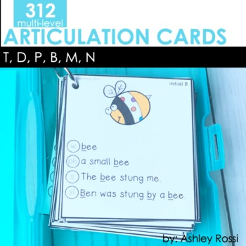 Articulation Cards T, D, B, P, M