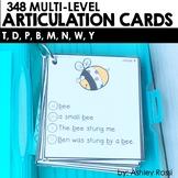 Articulation Cards T, D, B, P, M, N sounds   Preschool Spe