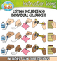 Office Supply Hands Instruction Icons Clipart {Zip-A-Dee-Doo-Dah Designs}