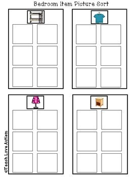 Household Work Tasks or File Folders BUNDLE