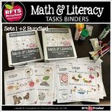DISTANCE LEARNING * (2-PK) MATH-LITERACY TASKS BINDER  BUN