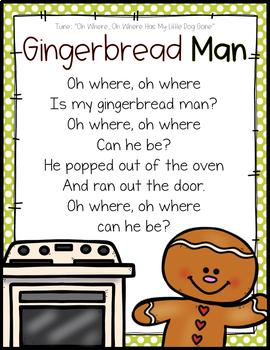 GINGERBREAD UNIT FOR PRESCHOOL, PRE-K AND KINDERGARTEN