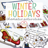 WINTER HOLIDAYS AROUND THE WORLD THEME FOR PRESCHOOL, PRE-K AND KINDERGARTEN