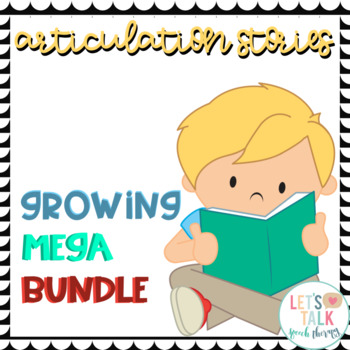 Articulation Stories Growing MEGA Bundle for Speech Therapy