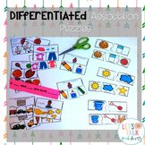Differentiated Association Puzzles--Speech Therapy (Catego