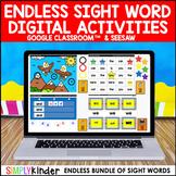 Digital Sight Word Activities : Google & Seesaw (ENDLESS) : Kindergarten & First