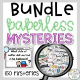 PAPERLESS Math Reading Problem Solving Mysteries BUNDLE