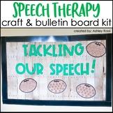 Football Speech Therapy   Bulletin Board Room Decor + Craft