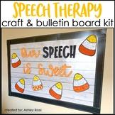 Speech Therapy Bulletin Board & Room Decor + Craft HALLOWEEN
