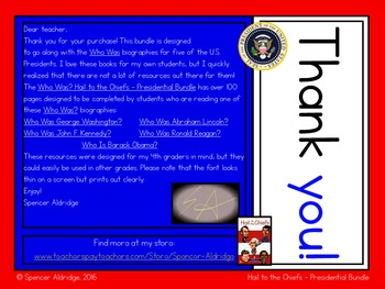 **PRESIDENTIAL BUNDLE** Who Was? - Hail to the Chiefs - U.S.Presidents