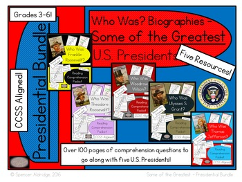 **PRESIDENTIAL BUNDLE** Who Was? - Some of the Greatest U.