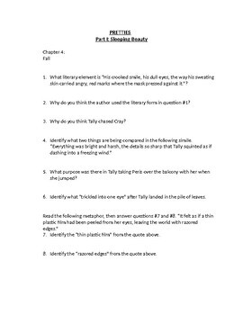 """""""PRETTIES"""" DIFFICULT SHORT ANSWER CHAPTER QUESTIONS"""
