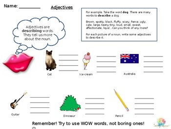 FREE PRIMARY WORD WORK