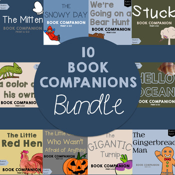 BUNDLE - 25% off Low/No Prep Speech Therapy Companions For the School Year