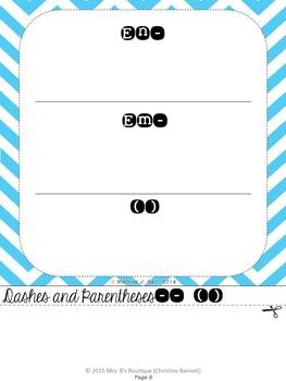Punctuation Notes Flipbook