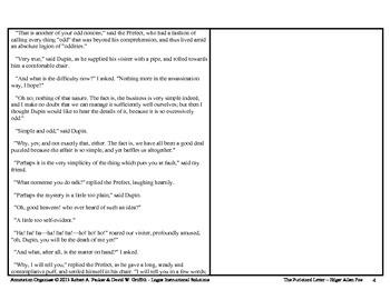 """PURLOINED LETTER"" by Edgar Allan Poe: Annotation Organizer"