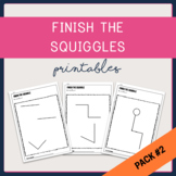 {Pack #2} Mr Squiggle - Finish the Picture Creative Activity