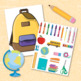 """""""Pack In"""" Prepositions and Two-Step Directions with this Backpack Activity!"""
