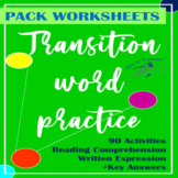 [Pack] Transition Words   Practice & Games   Regular lesson & Spanish Exams