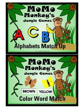 (Pack of 8) Momo Monkey's Jungle Games - File Folder Game Kit