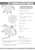 # Paper Plate Turtle Craft