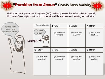 """""""Parables of Jesus"""" Comic Strip Activity - Fun, engaging lesson"""