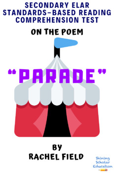 """""""Parade"""" Poem by Rachel Field Multiple-Choice Reading Analysis Test"""