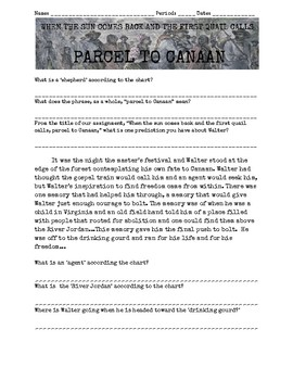 """""""Parcel to Canaan"""" Underground Railroad Notes, Codes, and Activity!"""