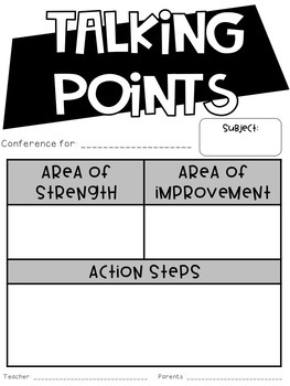 **Parent-Teacher Conference Pack** // Print-and-Go!